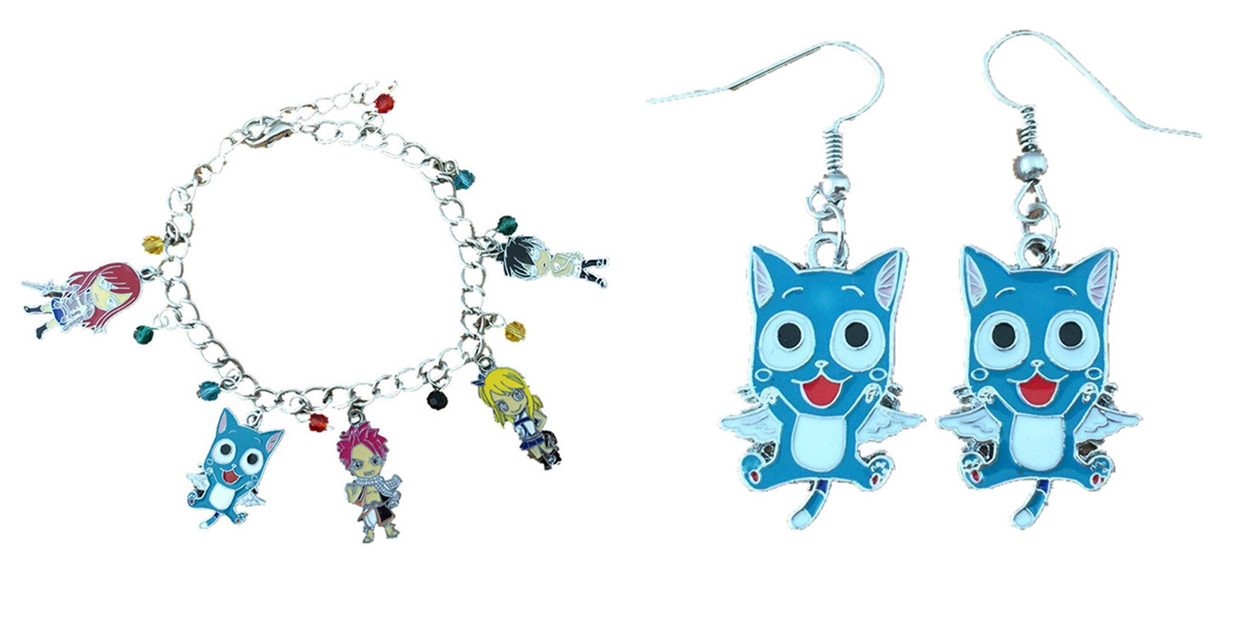 Athena Fairy Tail Assorted Earrings and Bracelet Gift Box Included