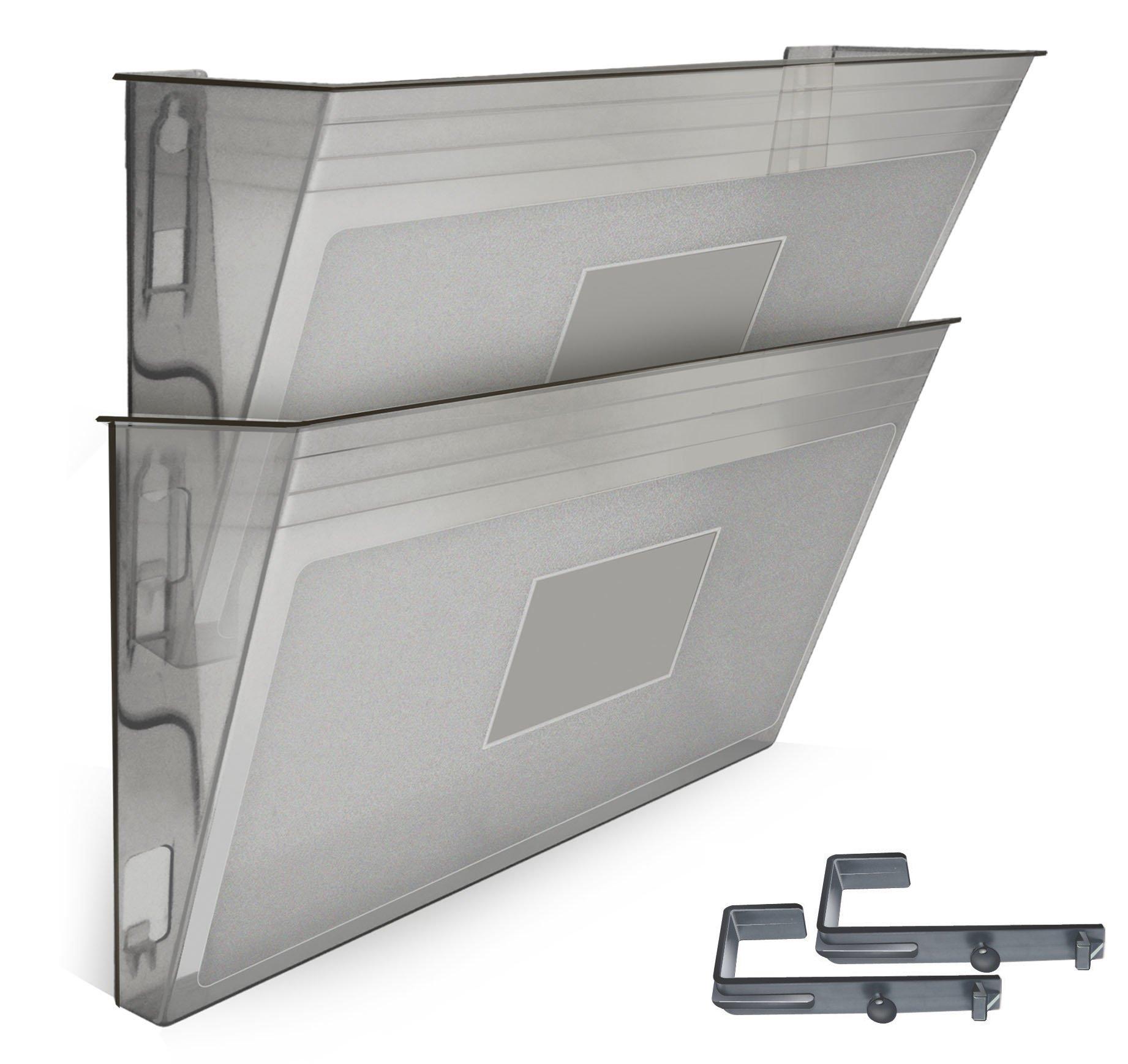 Acrimet Wall-mounted Modular File Holder (2 - Pack) (Smoke Color)