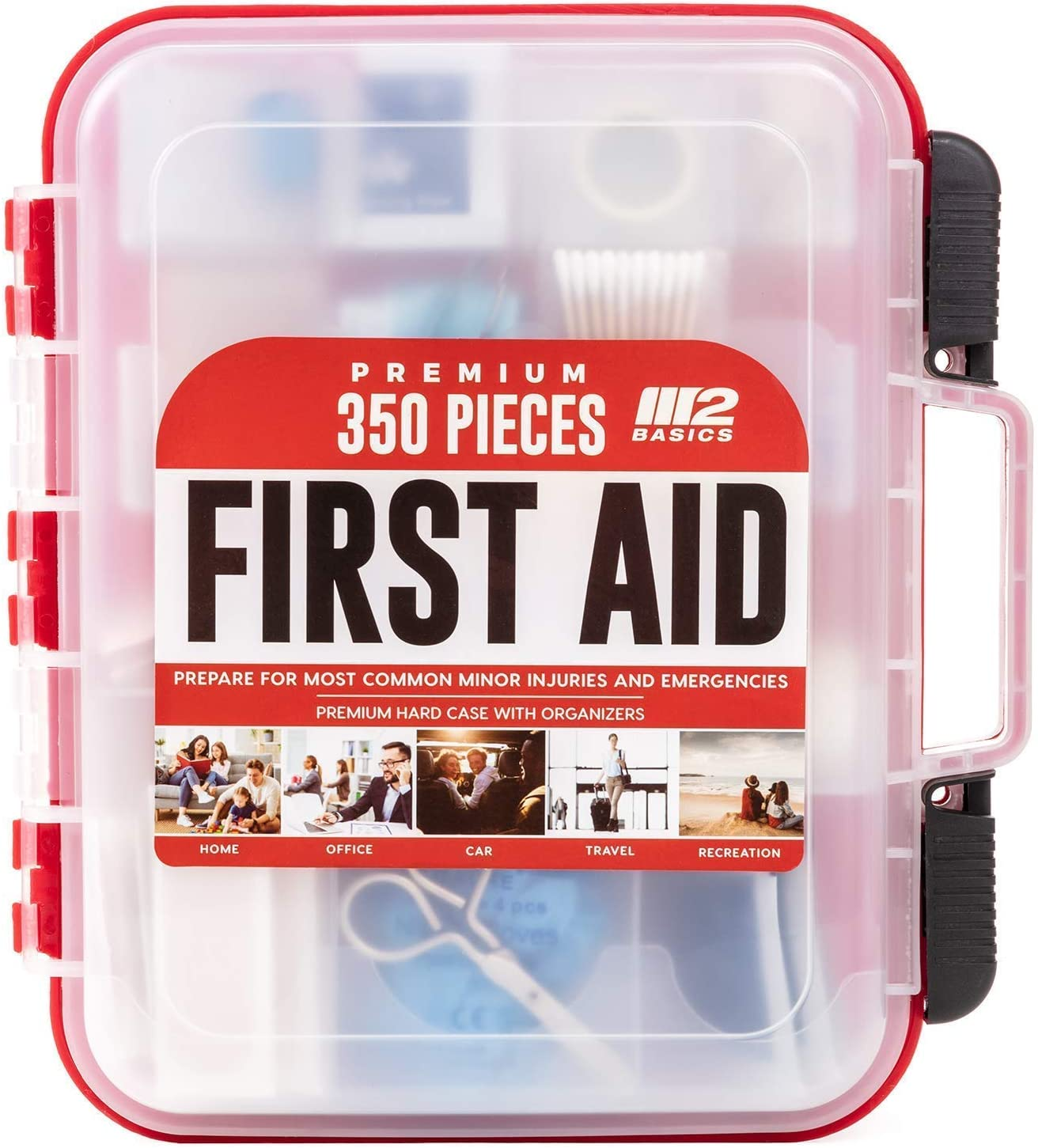 M2 BASICS 350 Piece Emergency First Aid Kit