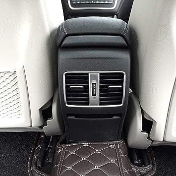 Accesorios de aluminio cromado para ventilación trasera de aire acondicionado de coche, para decoración de