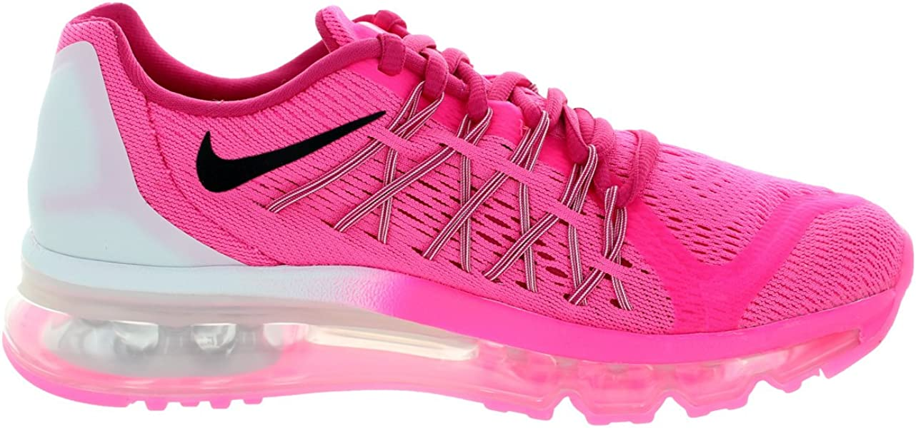 purchase cheap f310e 99e35 Nike Kids Air Max 2015 (Gs) Pink Pow Black Vivid Pink . Back. Double-tap to  zoom