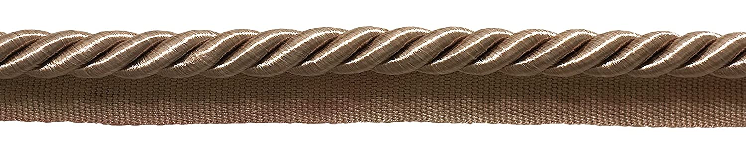D/ÉCOPRO Large Dark Sand 3//8 Basic Trim Cord with Sewing Lip 98 Feet // 30 Meters Style# 0038S Color: A8 Package of 32.8 Yards