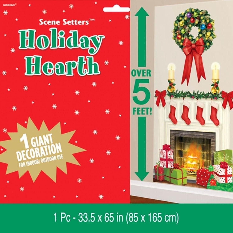 Giant Weihnachten Kamin Kranz Holiday Hearth Dekoset Kunststoff ...
