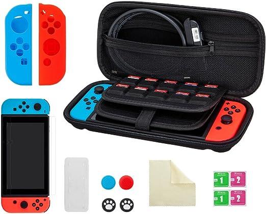 Estuche para Nintendo Switch, Deepex 13 en 1 funda protectora de ...