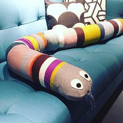 gordesc 1 pc bebé cama Bumpers para arc-en-serpent serpiente almohada decoración de