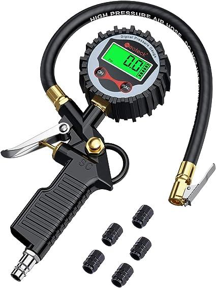 Neoteck Manómetro Digital Medidor de Presión Neumáticos de ...