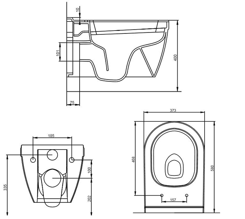 WC Toilette Wand WC Middot Keramik Toilettensch Uuml Ssel