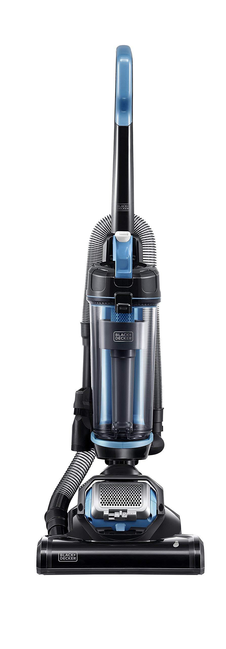 Black & Decker BDASL202 AIRSWIVEL Light Weight, Lite Ultra Lightweight Upright Vacuum Cleaner, Blue (Renewed) by BLACK+DECKER