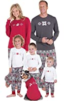 PajamaGram Holiday Nordic Matching Family Pajamas, , Red/Gray