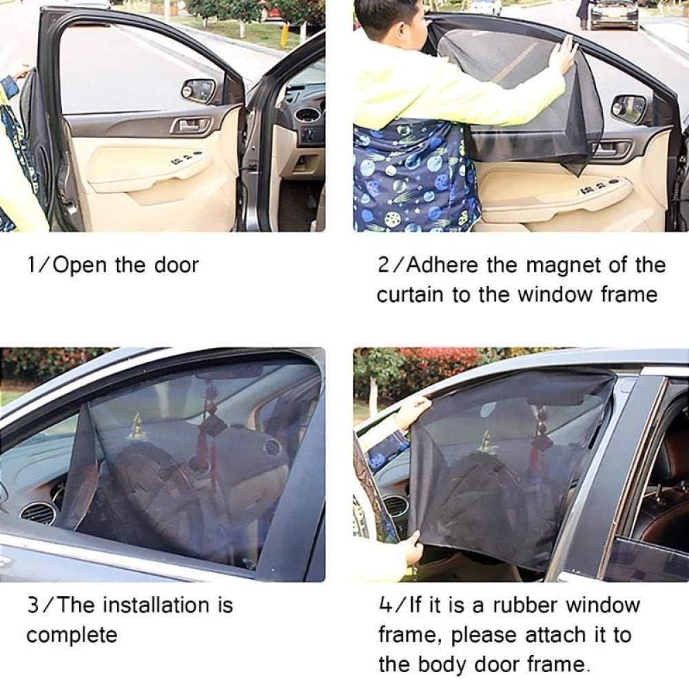 Protection contre les UV Protection magn/étique pour fen/être de voiture Pare-soleil en maille RUIXIANG Protection automatique des fen/êtres lat/érales Protection contre le soleil