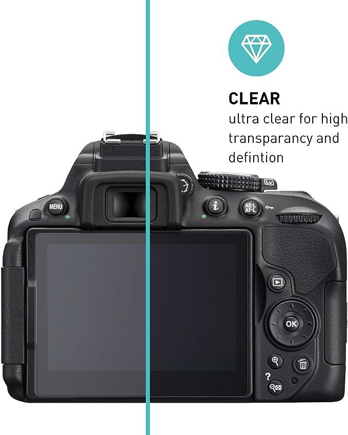 Smartect Schutzglas Kompatibel Mit Nikon D5300 D5500 D5600 2 Stück Tempered Glass Mit 9h Härte Blasenfreie Schutzfolie Anti Kratzer Displayschutzfolie Elektronik
