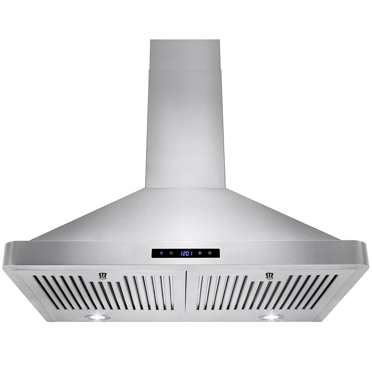 Golden Vantage 30 Wall Mount LED Display Touch Control High Quality Stainless Steel Vent Range Hood w/ Baffle Filters GV-RH0023-CF0001