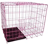 SRI Single Door with Removable Tray Folding Crate (Cage) for Dog and Cat with Metal Body