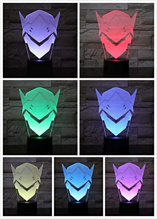 Luces de noche 3D Lámpara de mesa LED Control remoto Juego de ...