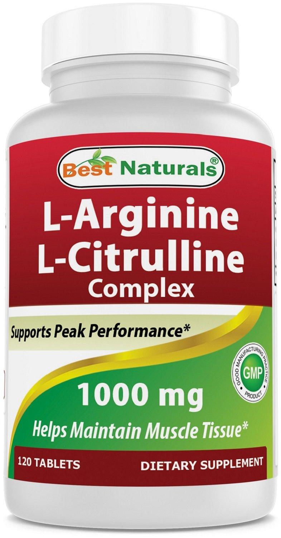 Best Naturals Arginine Citruline Complex 1000 Mg 120 Tablets by Unknown