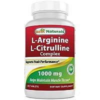 Best Naturals L-Arginine L-Citrulline Complex 1000 mg 120 Tablets