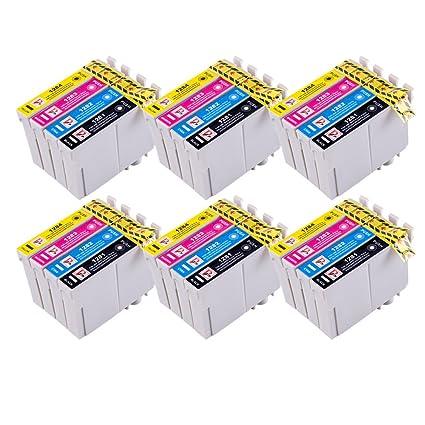 PerfectPrint - 24 Cartuchos de tinta compatibles para impresora Epson Stylus