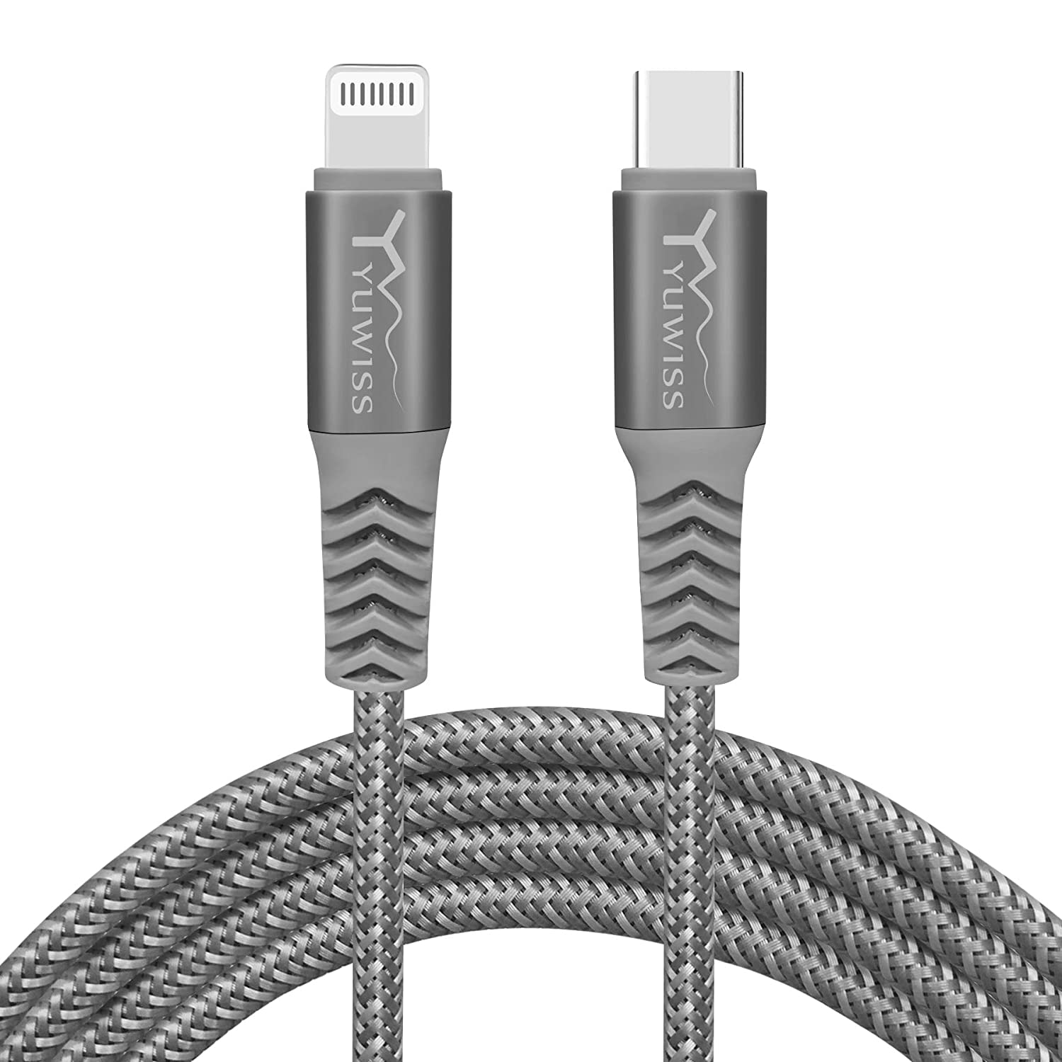 USB C to iPhone Charger Cord, [Apple MFi Certified] YW YUWISS 6 Feet Type C to Lightning Cable Fast Charging Compatible with iPhone 12/11/Pro/X/Xs Max/XR/8 Plus /7 Plus/6s/ iPad and More