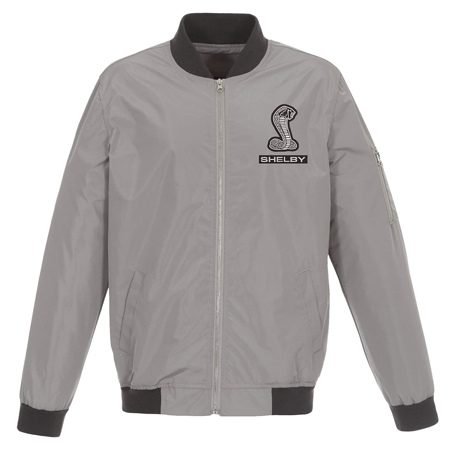 Mens Shelby Cobra Lightweight Zip-Up Nylon Jackets with Knit Trim