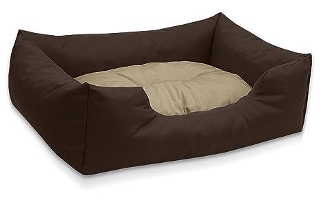 BedDog colchón para Perro Mimi S hasta XXXL, 26 Colores, Cama, sofá, Cesta para Perro, L marrón/Beige