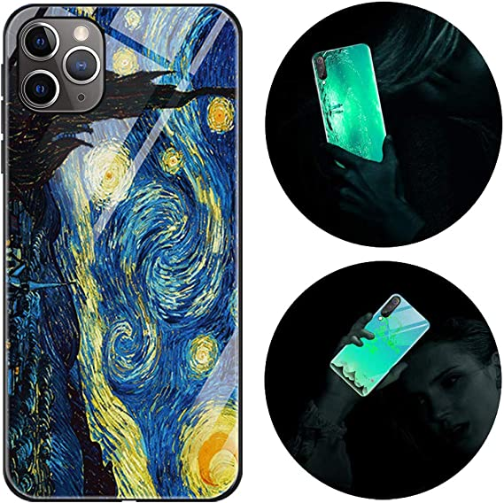 Leton-IT Cover Compatibile con iPhone 12 PRO Max,Custodia per iPhone 12 PRO Max Silicone Nottilucenti Luminoso Cristallo Case Vetro Temperato 3D ...