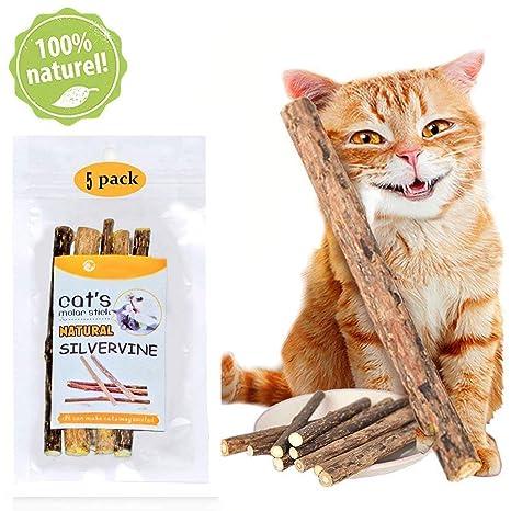 ZhengYue Hierba De Gato Catnip Juguetes Gatos Matatabi Juguete Masticar Gatito De Mascotas Limpieza Dientes Saludable