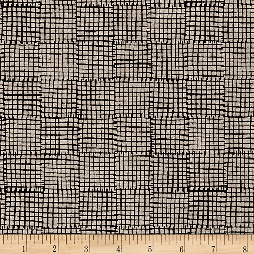 Maker Maker Linen Blend Grid Black Fabric By The Yard