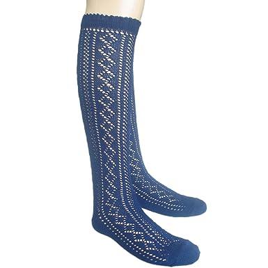 e1146f2b4f1fc Girls back to school cotton rich Pelerine knee high socks scallop top:  Amazon.co.uk: Clothing