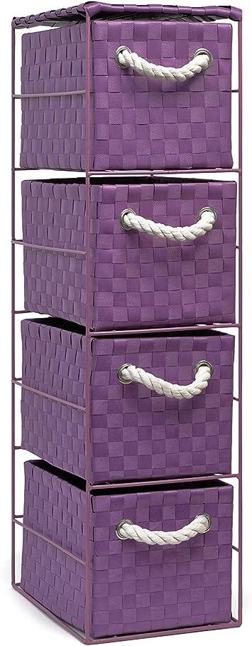 casa Ufficio Colore: Nero Bagno ARPAN Armadietto 2 x 4 cassetti per Camera da Letto