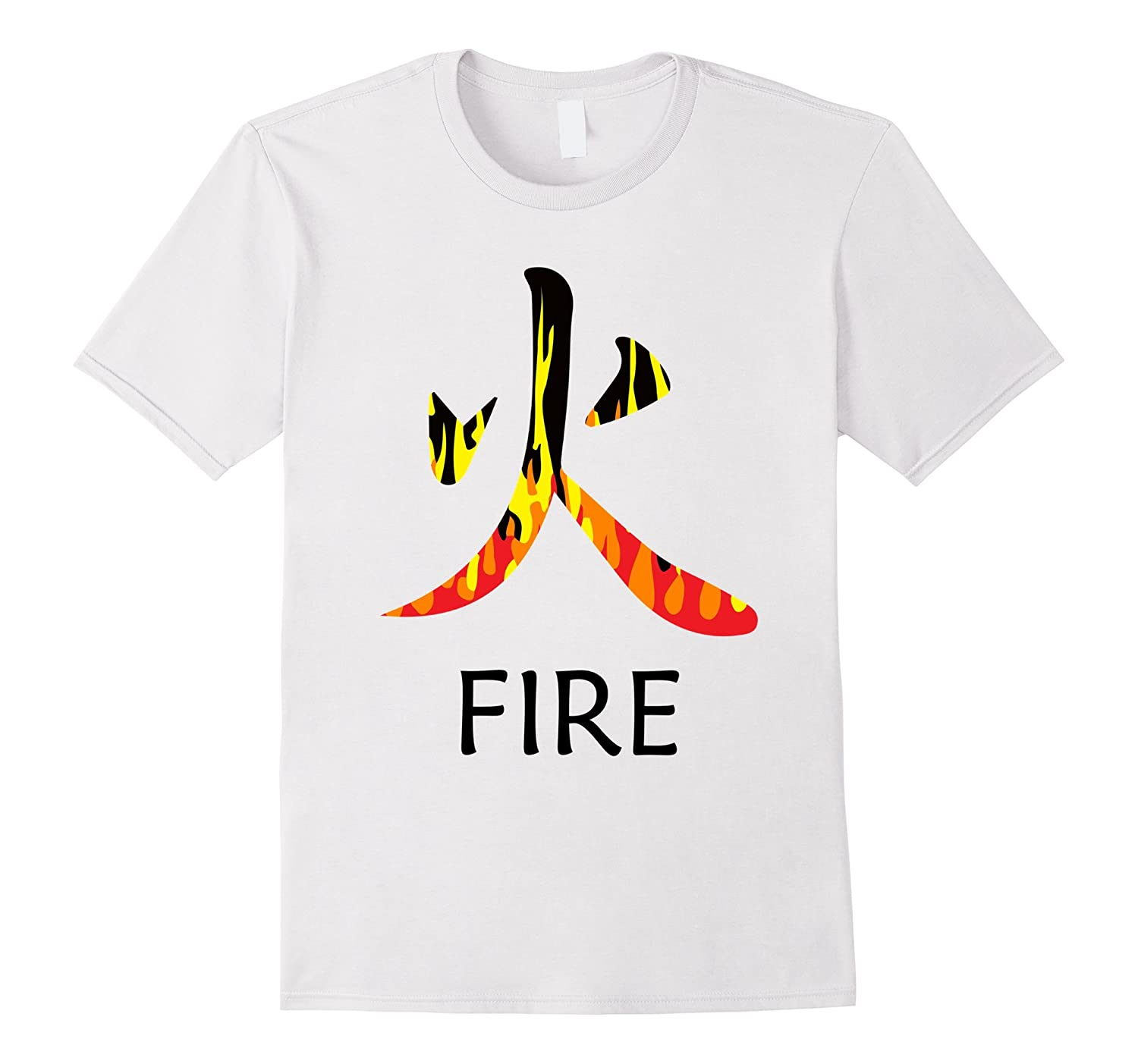 Japanese Symbol For Fire Calligraphy Shirt For Men And Women