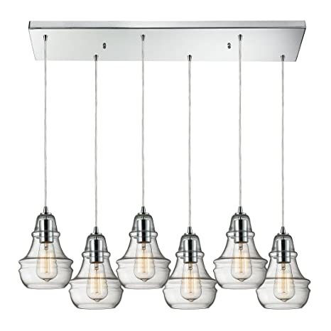 Amazon.com: Menlow Park - Lámpara de techo (6 luces, cromo ...