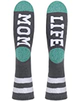 Street Wear Women's Mom Life Socks, Grey