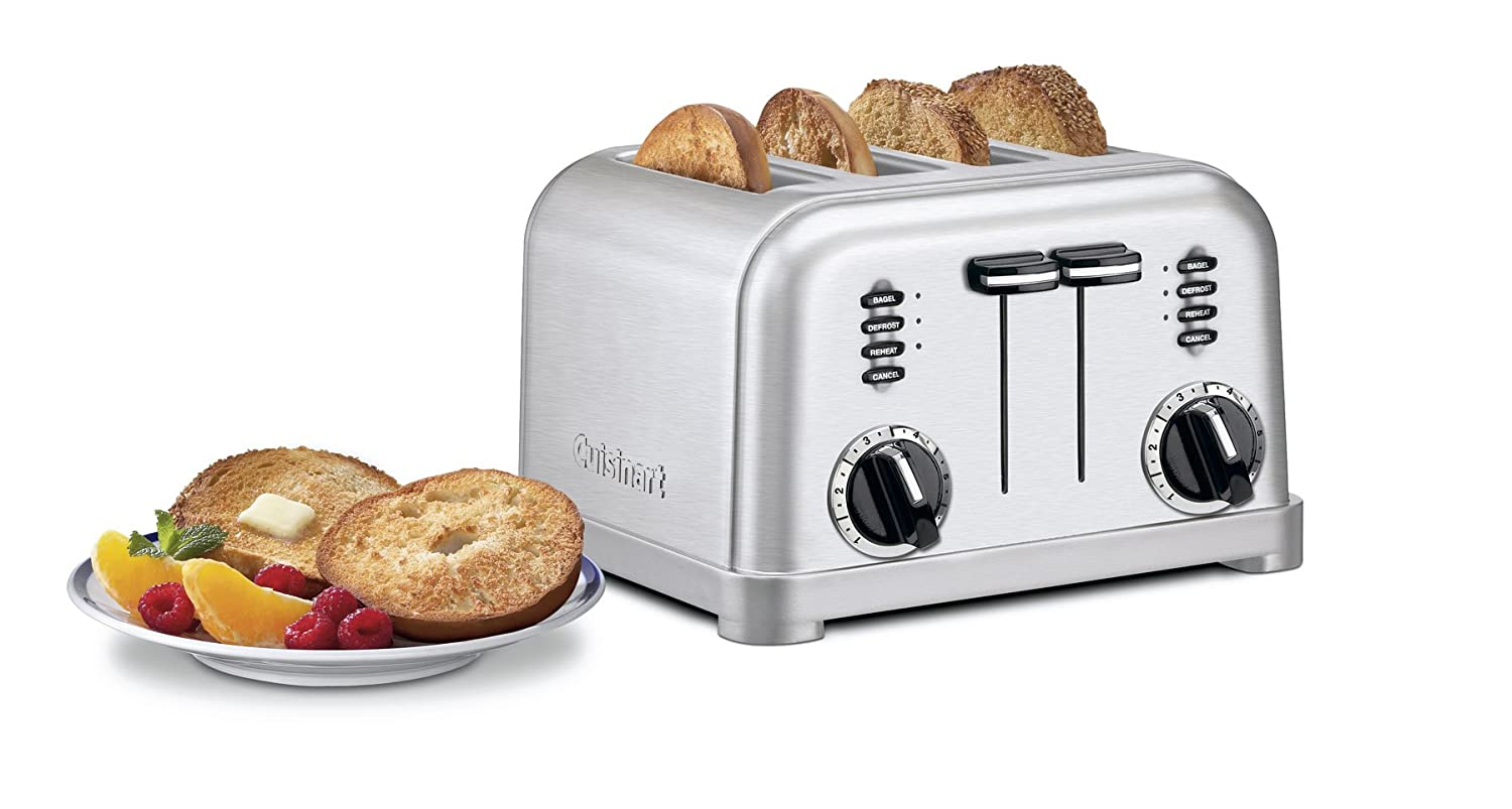 Cuisinart CPT-160 Metal Classic 2-Slice Toaster Brushed Stainless