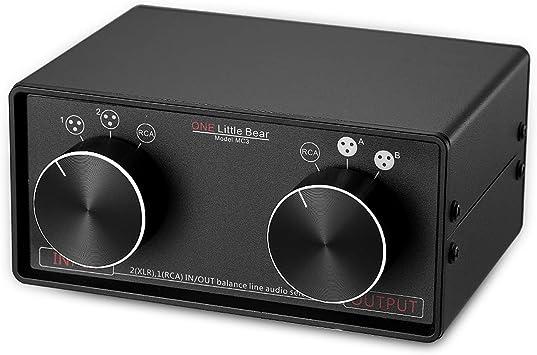 nobsound Little Bear MC3 XLR de 3 en 3 OUT Balanced/RCA estéreo convertidor de audio Selector Splitter Caja pasiva Preamp XLR to RCA Audio Switch: Amazon.es: Electrónica