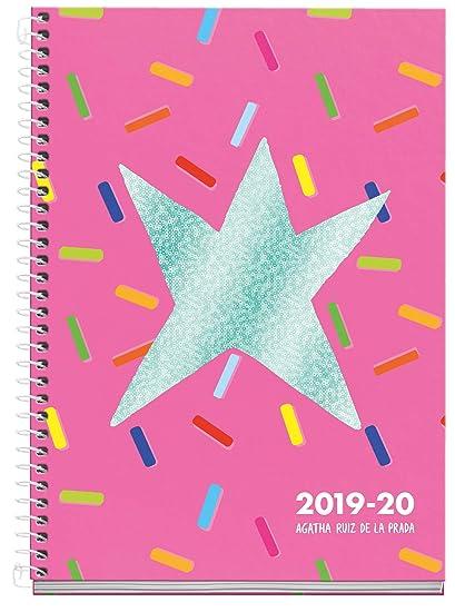 Agatha ruiz de la prada agenda escolar espiral 2019 2020 semana vista Caramelos Catalán 150x213 mm