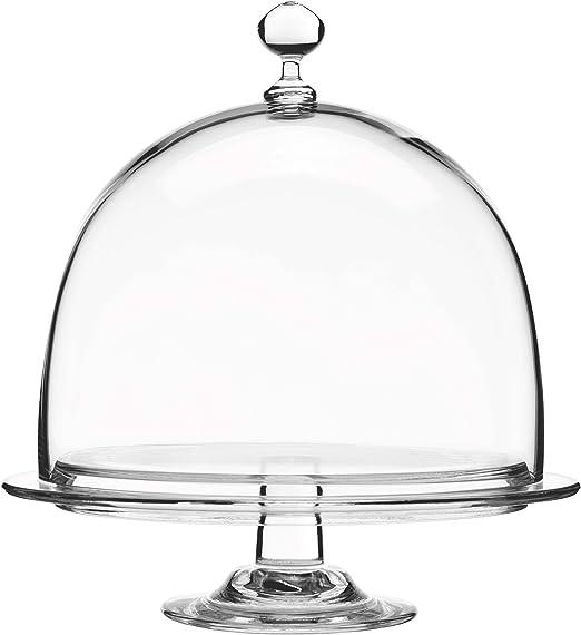 66723 De Fromage Mini Glass Butter Dish Dome Tray Plate Multi Purpose Preserving
