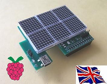 Raspberry pi i2c led matrix 24 x 16 board: amazon.de: computer