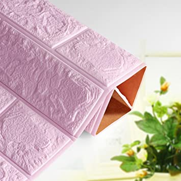 Espuma de polietileno PE Bovake - 3D Wallpaper DIY decoración de pared en relieve de ladrillo de piedra beige morado Talla:XL: Amazon.es: Bebé
