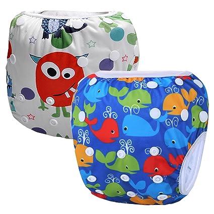 storeofbaby reutilizable bebé nadar pañales natación pantalones para recién nacidos y bebés (0 – 3
