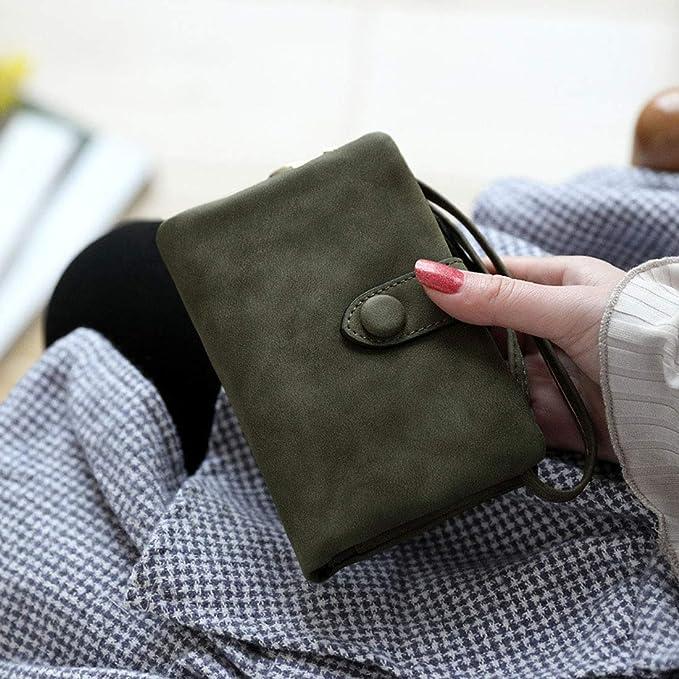 Amazon.com: Monedero de piel con bloqueo RFID para mujer, M ...