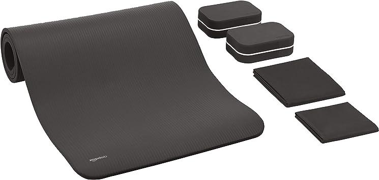 Amazon.com : AmazonBasics 1/2-Inch Thick Yoga Mat 6 Piece ...