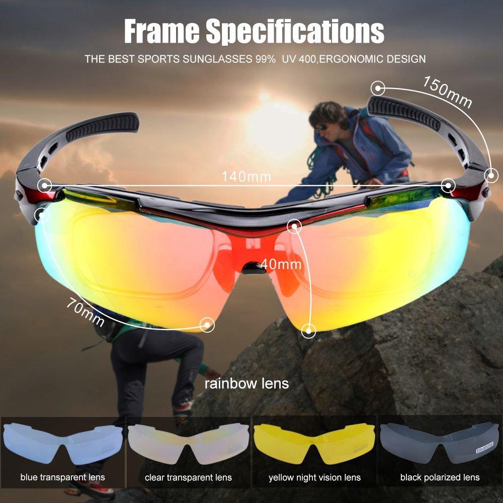 Amazon.com: MATT SAGA Gafas de sol deportivas polarizadas ...