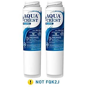AQUACREST FQSLF NSF 401,53&42 Certified to Reduces Lead, Chlorine, Taste & Odor, Cyst, Benzene and More, Compatible with GE FQSLF (1 Set)