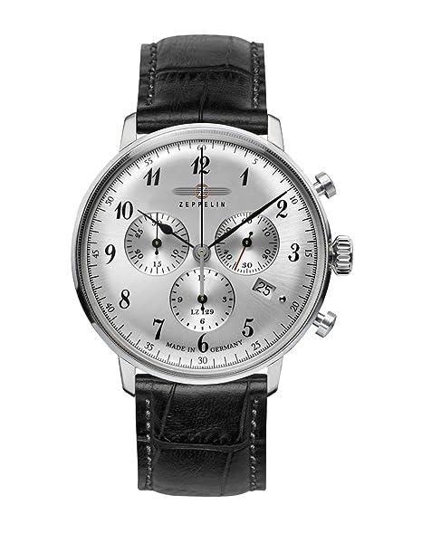Zeppelin 7088-1 - Reloj para hombres, correa de cuero color negro: Amazon.es: Relojes