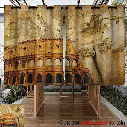 AndyTours - Cortina para Puerta corredera, Retro, Estilo Retro, diseño de Peces bajo el Agua, Color marrón salmón, Turquesa: Amazon.es: Jardín