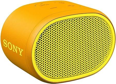 Sony Srs Xb01 Tragbarer Bluetooth Lautsprecher Extra Bass 6h Akku Spritzwassergeschützt Gelb Audio Hifi