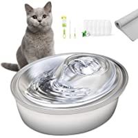 ORSDA Cat Water Fountain Stainless Steel, 67oz/2L Pet Fountain Dog Water Dispenser, Ultra-Quiet Automatic Cat Drinking…