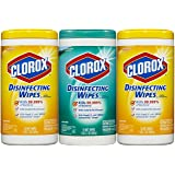 Clorox Disinfecting Wipes Value Pack, Fresh Scent and Citrus Blend (2 Pack)