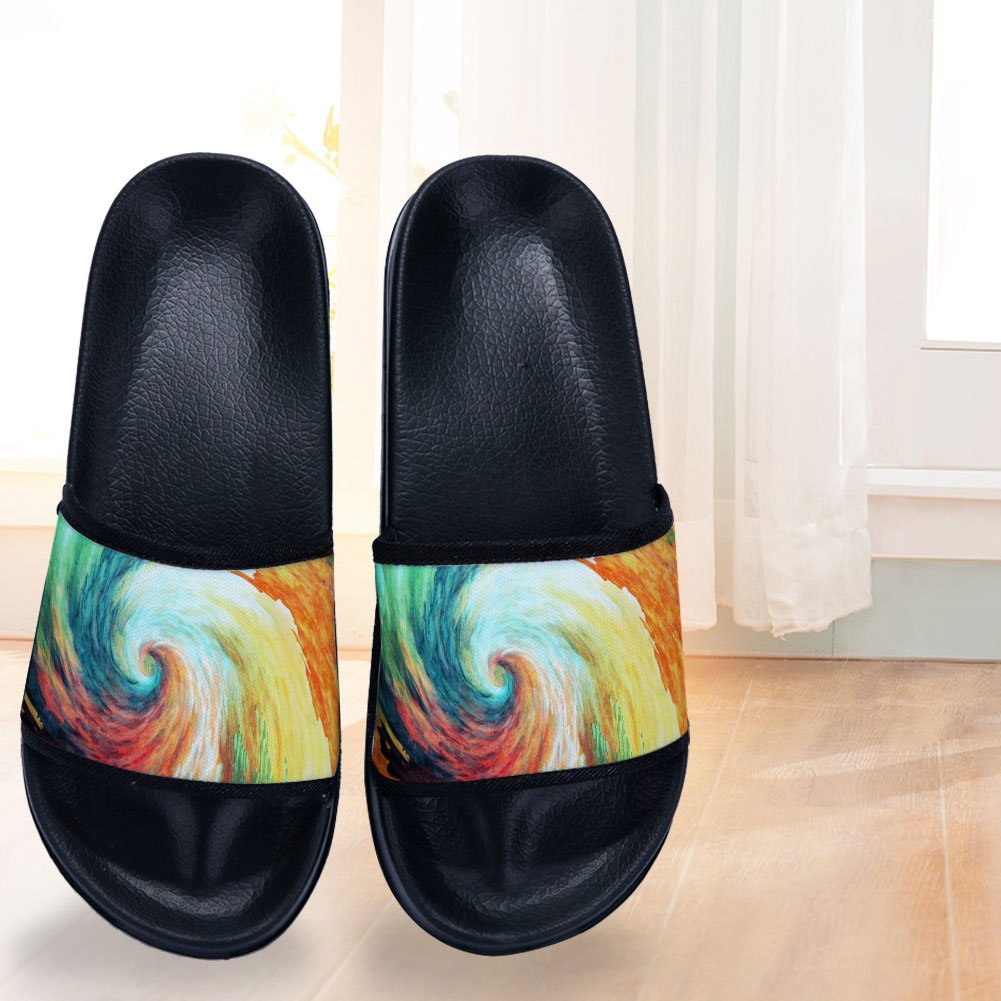 Color Vortex Slippers Non-Slip Quick-Drying Slippers for Womens