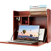 Wall Mounted Table, Multifunctional Fold Down Wall Mounted Laptop Computer Desk with Storage Compartments for Home…